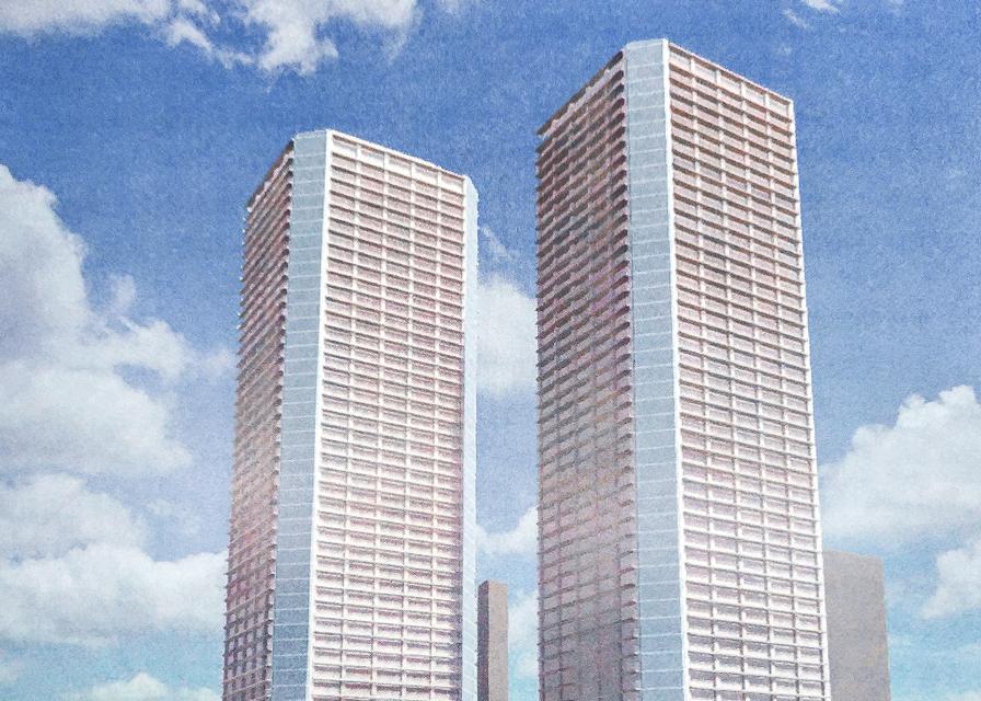 総戸数2,150戸のツインタワーマンション、豊海地区再開発の詳細