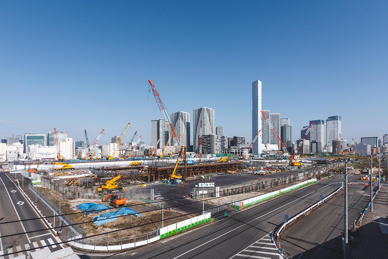 2020東京オリンピック晴海選手村の建設状況(2018年1月下旬)