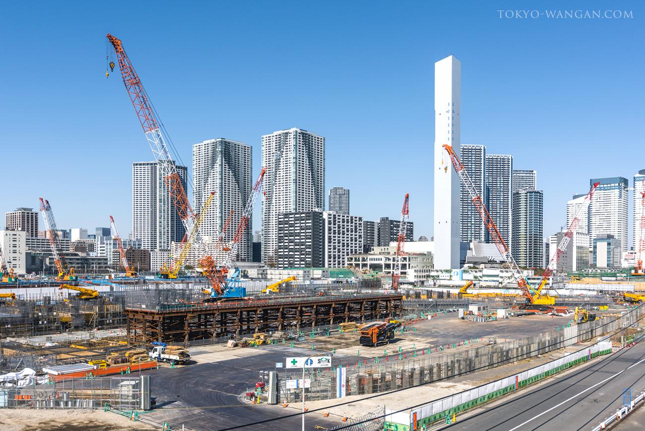 2020東京オリンピック晴海選手村の建設状況(2018年2月中旬)