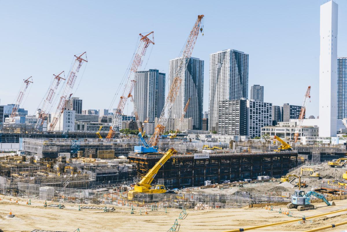 2020東京オリンピック晴海選手村の建設状況(2018年5月下旬)