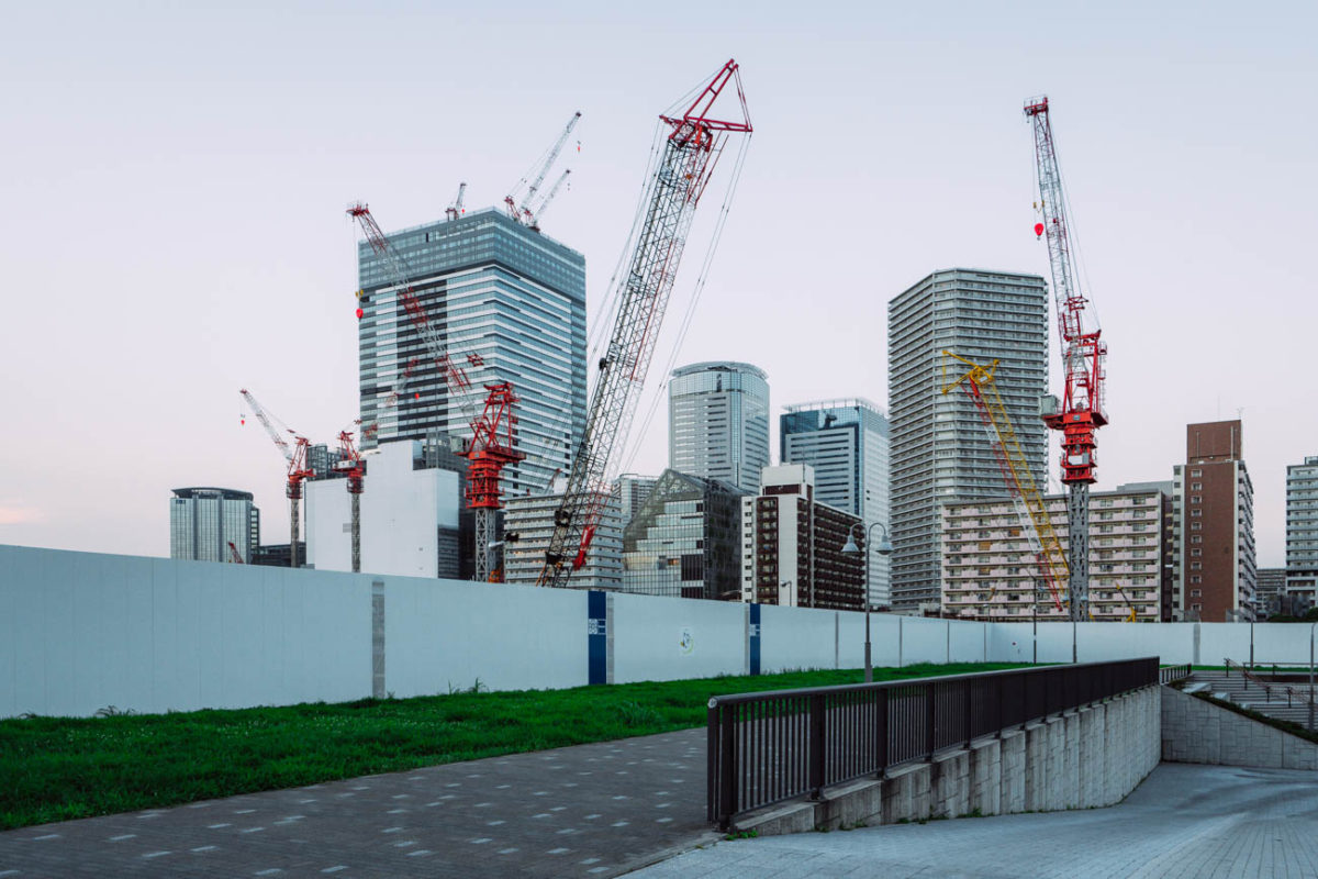ブランズタワー豊洲の建設状況(2019月8上旬)